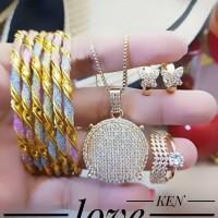 xuping set perhiasan lapis emas 24k A242