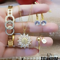 titanium set perhiasan A2420