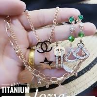 titanium set perhiasan A2410
