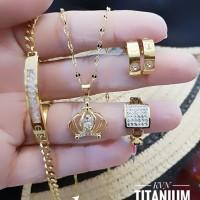 titanium set perhiasan A2414
