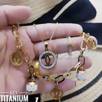 titanium set perhiasan A2412