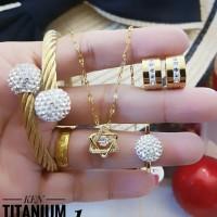 titanium set perhiasan A2417