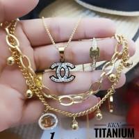 titanium set perhiasan A248