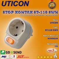 STOP KONTAK ARDE STEKER DAN SAKLAR UTICON ST-118 SWN