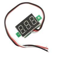 """Voltmeter Digital Mini LED 4.5 - 30 V DC 3 kabel wire 0.36"""" 0.36 Volt"""