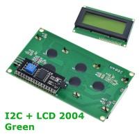 LCD2004 with I2C IIC Interface LCD 4x20 Green LCD 2004 Hijau Kuning