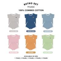 MOOI Retro Set Setelan Baju Anak elanastore