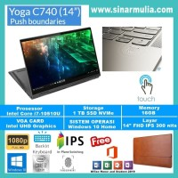 LAPTOP LENOVO YOGA C740 i7-10510U 16GB 1TB SSD NVME TOUCH WIN10+OHS