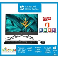 "PC HP AIO i3-1005G1 4GB 512GB SSD 21.5"" Win10+OHS (HP 22-DD0116D)"