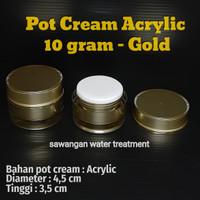 Pot cream acrylic 10gram gold / pot cream akrilik 10gr gold