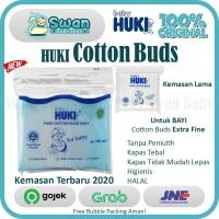 HUKI Cotton Buds Extra Fine for Baby 100 Sticks Cotton Bud ExtraLembut