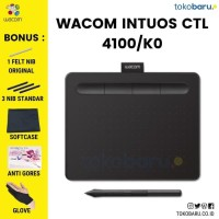 FREE BONUS! MURAH!WACOM CTL-4100/K0-C Intuos Pen Small Wired