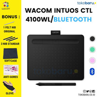 FREE SOFTCASE & ANTIGORES WACOM CTL-4100WL Intuos Pen Wireless Black