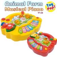 Mainan Bayi Animal Farm Piano Musikal Edukatif dan Lucu! - Kuning