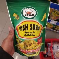 ervan fish skin wasabi salted egg - snack kulit ikan 50gr