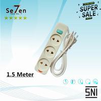 SC-753 Stop Kontak + Kabel + Saklar 3 Lubang 1.5 Meter 3 Meter