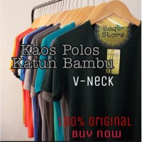 Kaos Polos Katun Bambu - Catton Bambu Basic T- Shirt (v Neck)