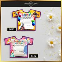 Kartu Undangan Murah (D4) Ulang Tahun Motif Karakter  Happy Birthday  - All Variant
