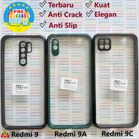 Xiaomi Redmi 9 - 9A - 9C Anti Slip Anti Crack Hybrid Clear Back Case - Redmi 9, Hitam