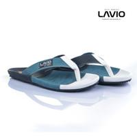 Sandal Pria Santai Nyaman diKaki Terlaris Original Seller Lavio Snake - Putih, 39
