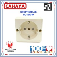 Stop Kontak Ob Cahaya / Stopkontak 1 Lubang / Colokan 1Lobang SNI
