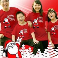 New Spirit Kaos Couple Keluarga Natal Santa Selfie Merah