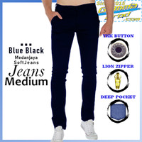 Gammaprod Blue Black Slim Fit Celana Jeans Pria Medium - Blue Black, 27-28 Ditulis