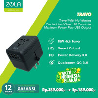 ZOLA Travo Universal Charger 3 Usb Dan 1 type C Output PD 18W, QC 3.0