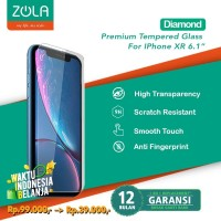 "Zola Diamond 9H Super Hard Ultra Clear IPhone XR 6.1"" Tempered Glass"