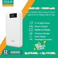 Powerbank Zola Jade Led 10000mAh Smart Led Display Fast Charging 2.1A