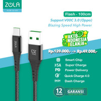 ZOLA Flash Fast Charge Kabel Data Type C VOOC,QC3.0,SuperCharge Max 5A