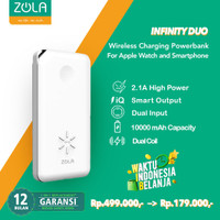 Zola Infinity Duo Powerbank Wireless 10000mAh Untuk Hp & Apple Watch