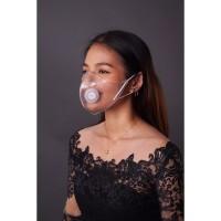 Viral Masker Transparan Earloop Now You See - Bening, All Size