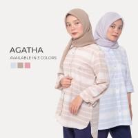 Cotton Inch - Agatha Kemeja Wanita Garis-garis