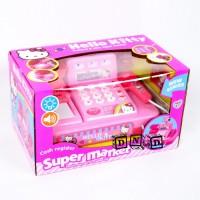 Mainan Anak Cash Register Timbangan Hello Kitty Mesin Kasir Pink