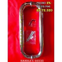 (PER DUS) HANDEL C / HANDLE C PINTU KACA 32 X 35 FASTER