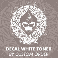 DECAL WHITE TONER by Custom Order