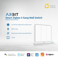 ARBIT Smart Home ZigBee Wall Switch 3 Gang Without Neutral line TUYA