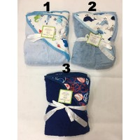 Selimut bayi topi carter double fleece / selimut topi carter