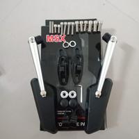 kaca Spion circuit tomok model rizoma universal Nmax Aerox vario mio d - Putih