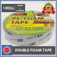 DOUBLE TAPE BUSA 3m PE FOAM TAPE 24mm x 4 M Meter ORIGINAL