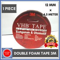 3M VHB Double Tape / Perekat 12mm x 4.5m Merah Original 1/2 INCH