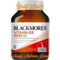 Blackmores Vitamin D3 1000iu 200 tablets asli australia