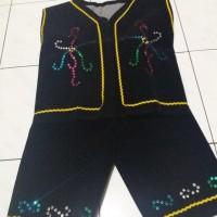 Ready Stock Baju Dayak Anak Sd - Pakaian Adat Kalimantam - Hitam, Cewe