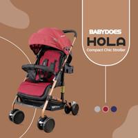 BabyDoes CH-SY311 SN Hola Grey/Red/Blue Kereta Dorong Bayi - Merah