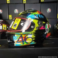 Helm AGV Pista GPR Clone 1:1 Versi 3 Valentino Rossi Winter Test 2019