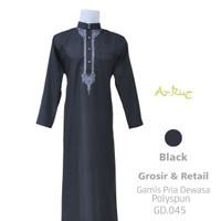 (CASHBACK) gamis avatar style al haramain jubah Pria Terbaru 2020 - Hitam