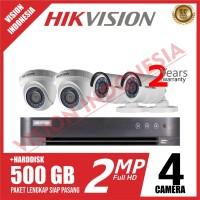 PAKET CCTV HIKVISION 4 CAMERA 2MP / 1080P FULL SET / HQHI Series DVR