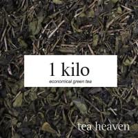 1 kilo daun teh hijau murni organik green tea kiloan berkualitas pabri