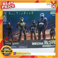 Pilot Rihio Multiabyss The Action Mecha Pilot Red Mokit isi 15pcs